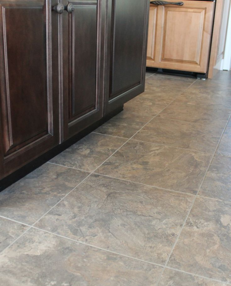 Another Picture Of The Color Chocolate Tile What Do You Ceramic Flooringvinyl Flooringflooring Ideaskitchen Floorskitchen