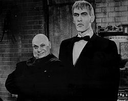 Theodore Crawford Cassidy (July 31, 1932 – January 16, 1979), known as Ted Cassidy, was an American actor who performed in television and films. At 6 ft 9 in (2.06 m) in height, he tended to play unusual characters in offbeat or science-fiction series such as Star Trek and I Dream of Jeannie. He is best known for playing the part of Lurch, the butler on the 1960s television series The Addams Family and performing the opening narration of the 1970s TV series...