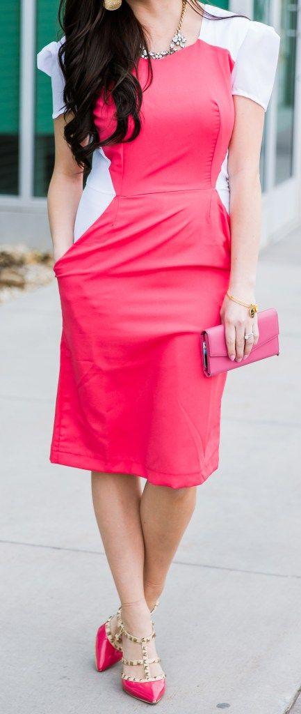 """""""Girlboss"""" Modest Pink Work Dress - Modest Goddess"""