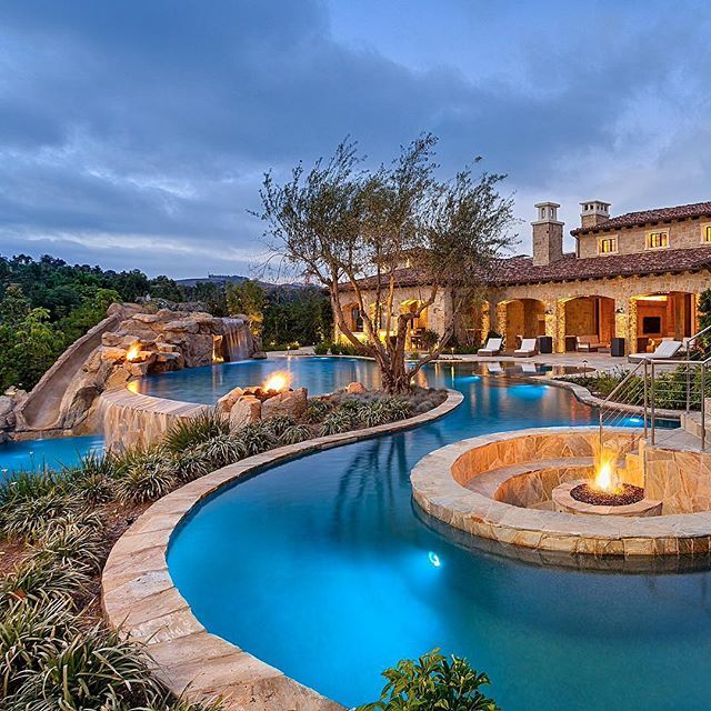 Luxury Home Swimming Pools 429 best patio landscaping pools & features images on pinterest