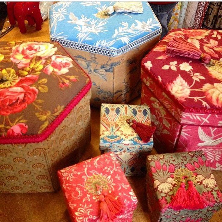 Very excited......kits are packed instruction booklets are due tomorrow afternoon finally our Etui and Hexagon Sewing box kits are just about ready! In store and at the AQC this week yay!! #luccellomelbourne #australasianquiltconvention #booth69 #aqc #artisan #cartonnage #handmade