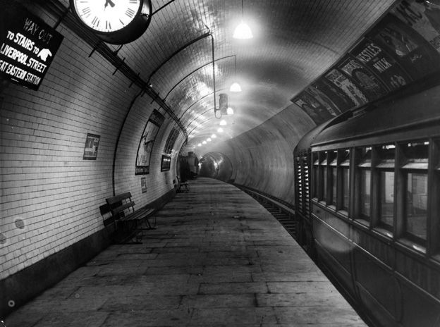 Liverpool Street Station - a less inviting place in 1914