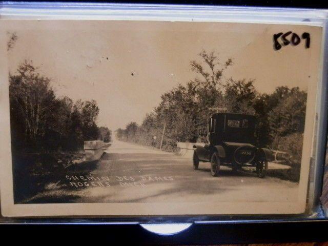 #5509, Real Photo, Rogers City Michigan Vintage Auto,Chemin des Dames 1924