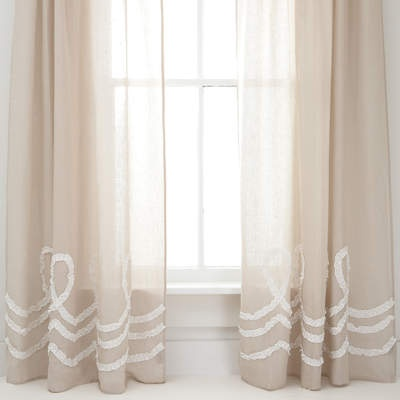 ruched linen window panel at pine cone hill ruched neutrals window curtainsrod