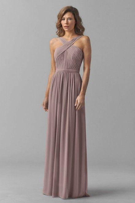 234 (orig $260) at Bella Bridesmaids | Watters Maids Dress Micah | color mink |