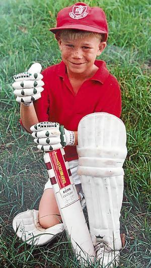 Australia's new Tewnty20 sensation David Warner when he was seven years-old.