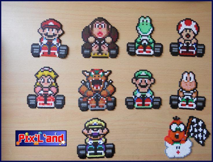 Thème Mario Kart en perle Hama MiNi
