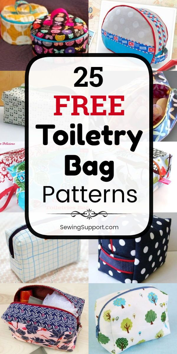 Bag patterns to sew. 25 Free Toiletry Bag Patterns…