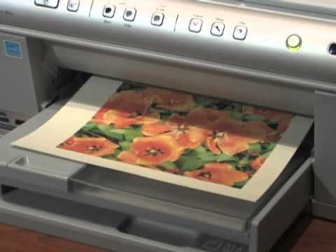 How to print directly onto fabric using Bubble Jet Set 2000 (to prep the fabric for printing).  Freezer paper backs the fabric.