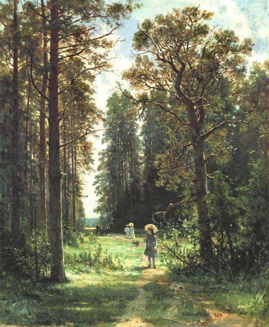 Διαδρομή σε ένα δάσος. (1880)