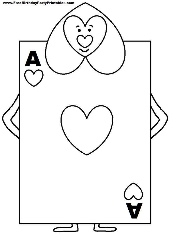 Alice in wonderland card soldiers printable cutout for Card coloring pages