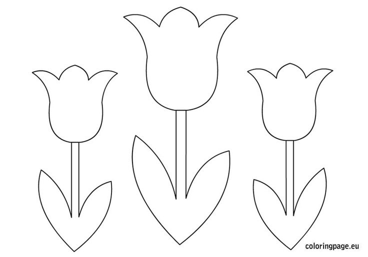 Tulips Flower coloring page Mother's Day Pinterest