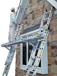 Ladder jack platform