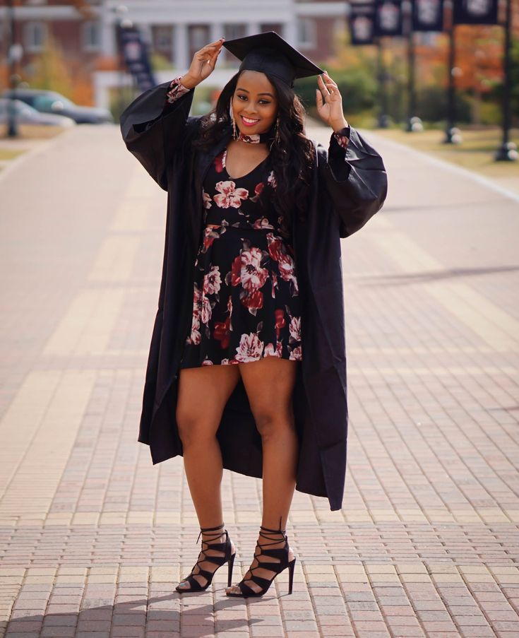 Floral pattern outfit for my Fall college graduation. Winthrop University. unive…