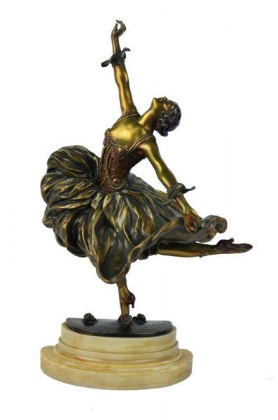 Claire Jeanne Roberte Colinet. Bela e original escultura em bronze francês
