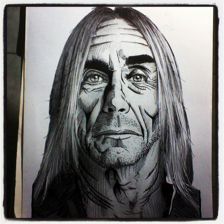 Iggy Pop. #rock #rockstar #rocknroll #ilustración #retratos #dibujo #draw #sketch #art #arte