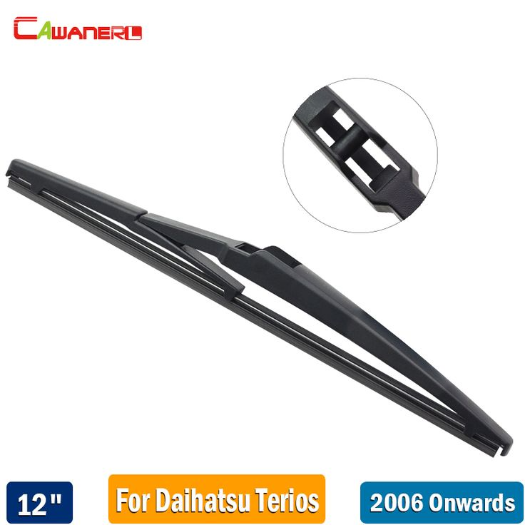 "Cawanerl 12"" 300mm Car Back Window Wiper Blade Vehicle Rubber Rear Windscreen Wiper For Daihatsu Terios 2006-2017 #Affiliate"