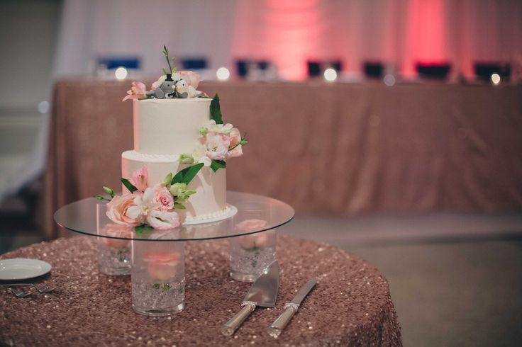 A simple yet elegant way to display your wedding cake. Visit our website for more details about Simple Elegance! http://aweddingtodreamof.com/dreams/ Images by Kristi Lee Photography  Website: www.kristi-lee.com