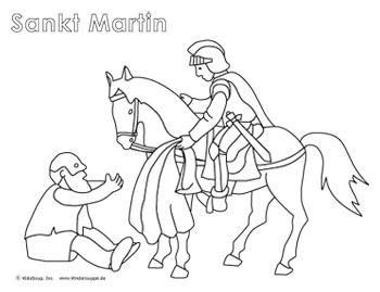 Sankt Martin Geschichte Lieder und Ausmalbilder St