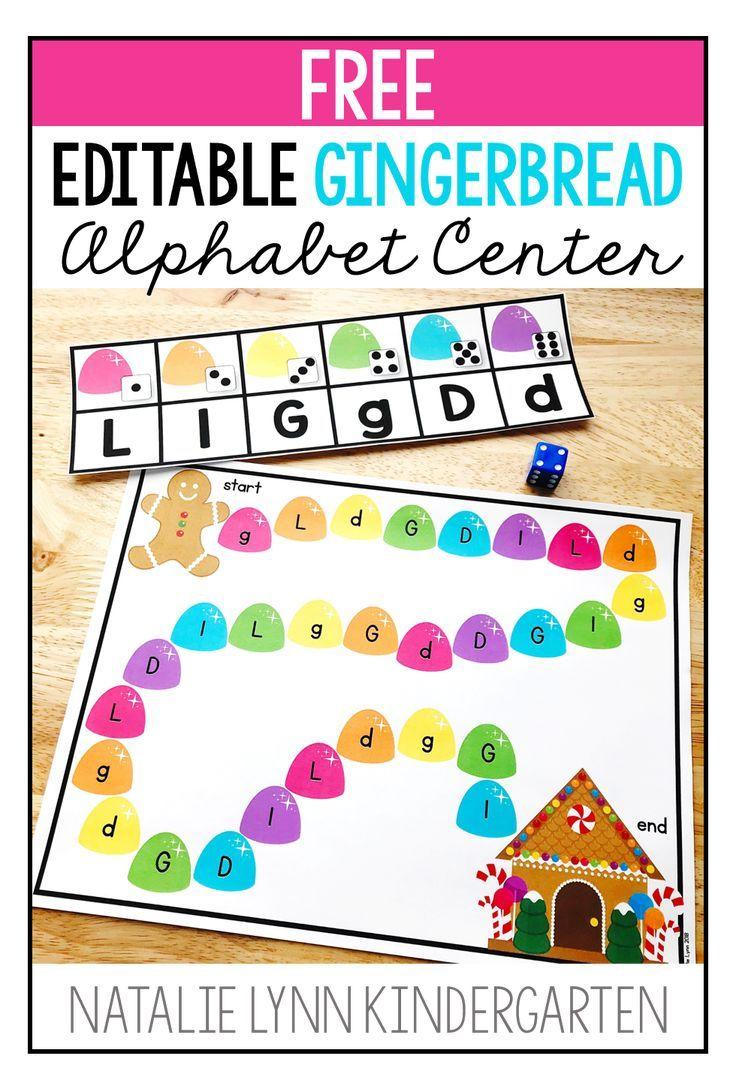 This Gingerbread Center Is Perfect For Practicing Letters In Preschool Or Kindergarten In 2020 Literacy Centers Kindergarten Alphabet Centers Kindergarten Activities [ 1083 x 736 Pixel ]