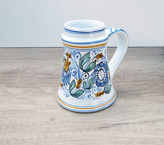 Spring Cup with colorful Flower motives. Haban by HabanCeramic, $26.00