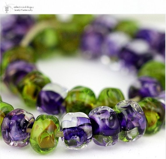 glass lampwork beads vineyard organic strand 50 handmade for artisan jewelry designs