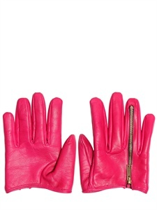 DSQUARED - LEATHER ZIPPED HALF GLOVES - LUISAVIAROMA - LUXURY SHOPPING WORLDWIDE SHIPPING - FLORENCE