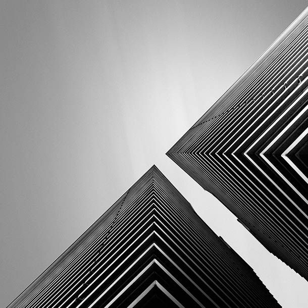 Abstract architecture and black and white photographs