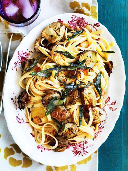 Du liebst #Artischocken ? Dann kannst du mit dieser #veggie #Pasta richtig auftrumpfen!