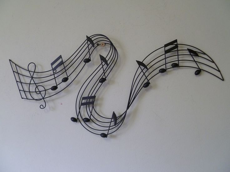 Golf muzieknoten (zwart) - Muziek - wanddecoratie