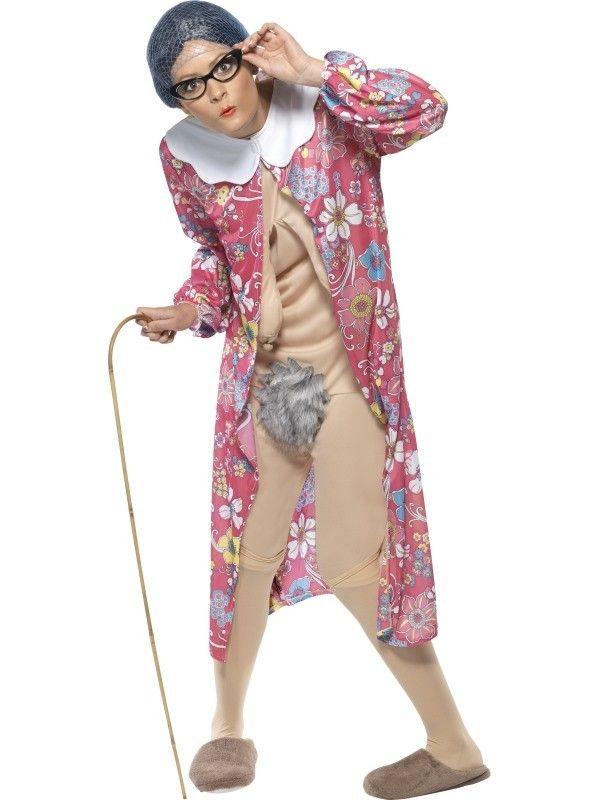 Oma Met Hangers Vrouw Kostuum