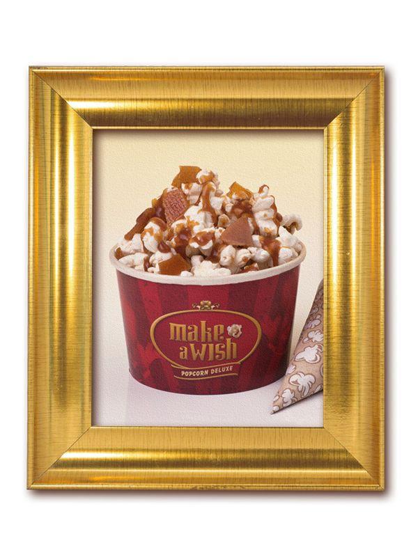 Cardápio | Make a Wish Popcorn Salt'N Toffee: Pipoca premium com cobertura de caramelo toffee levemente salgada, flor de sal e cristais de caramelo.