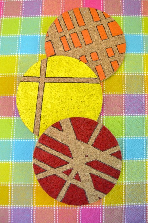 Quick Craft: Modern Hand Painted Trivets Kids Can Make -- makes a great (and useful) gift!