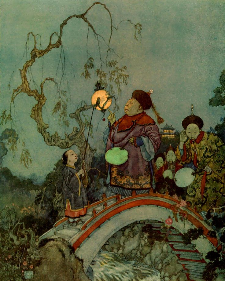 Edmund Dulac - The Nightingale 2 - The Nightingale (fairy tale) - Wikipedia, the free encyclopedia