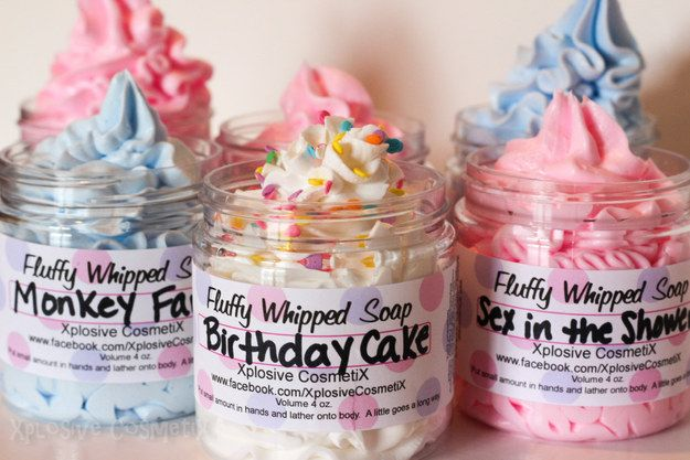 These whipped vegan soaps to make you smell like a birthday cake. | 27 Things You Need To Have The Perfect Shower
