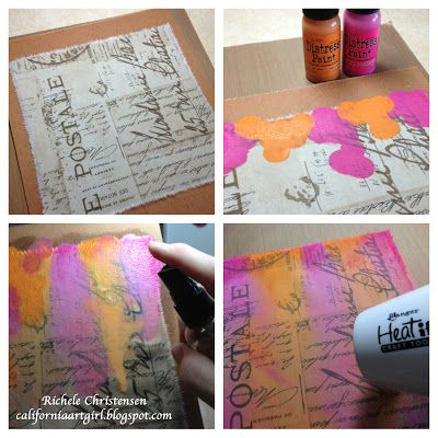 Richele Christensen: Distress Paints and Eclectic Fabric