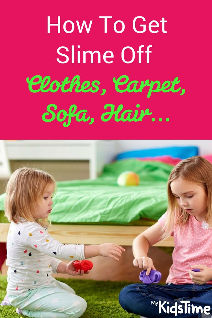 How To Get Slime Off Clothes Carpet Sofa Hair Slime Stain