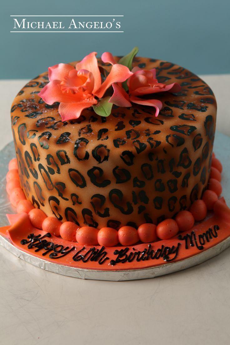 Cheetah Print Wedding Cake