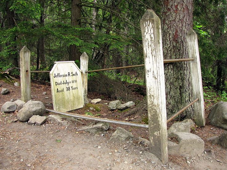 "Jefferson ""Soapy"" Smith grave. Crime Figure. Gold Rush Cemetery, Gold Rush, Alaska 2009.jpg"