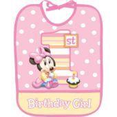 Minnie Mouse 1st Birthday Bib - Party City