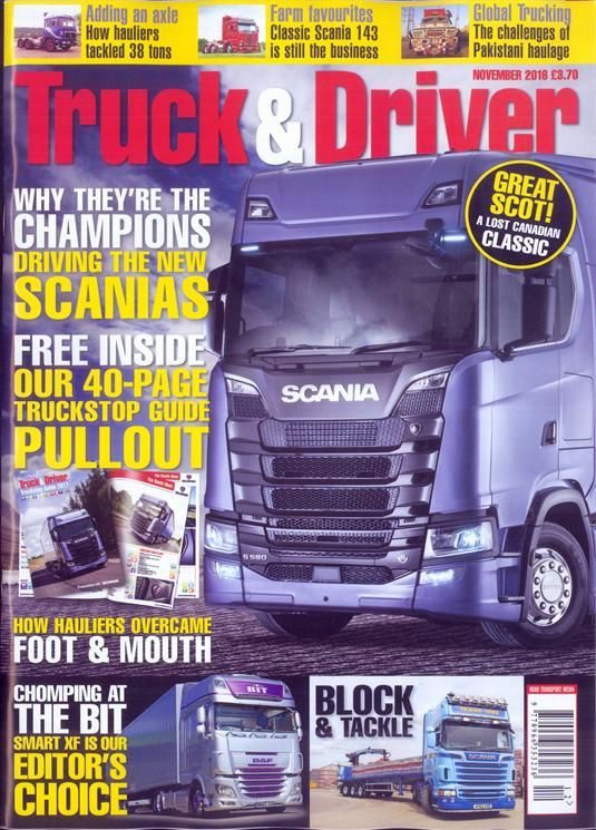 Buy Truck And Driver Magazine Turkey | British Magazines from Newsstand | Trucking