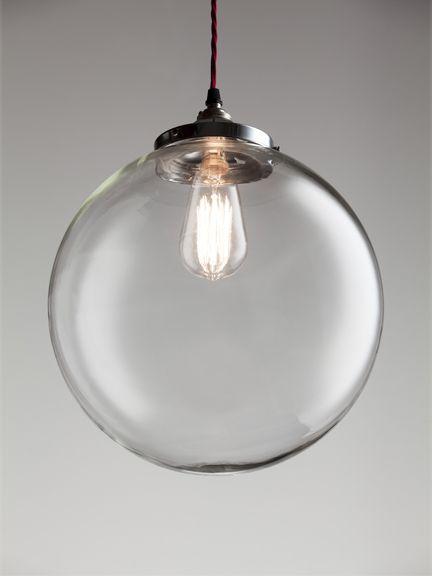 Globe blown glass pendant - extra large, Globe blown glass pendants - Holloways of Ludlow