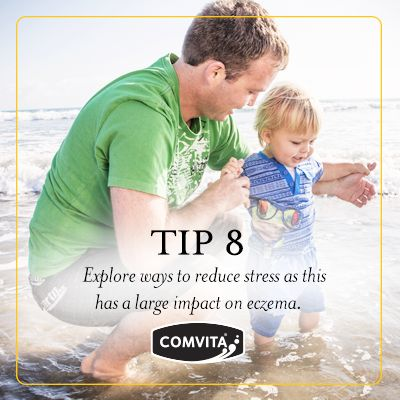 Eczema Management Tip 8  - Triggers.  Explore ways to reduce stress as this has a large impact on eczema. http://www.comvita.co.nz/ingredients/medihoney-landing.html