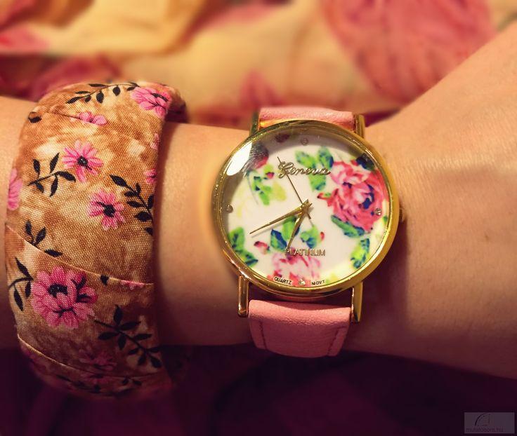 Geneva Platinum Romantic Női karóra - Pink