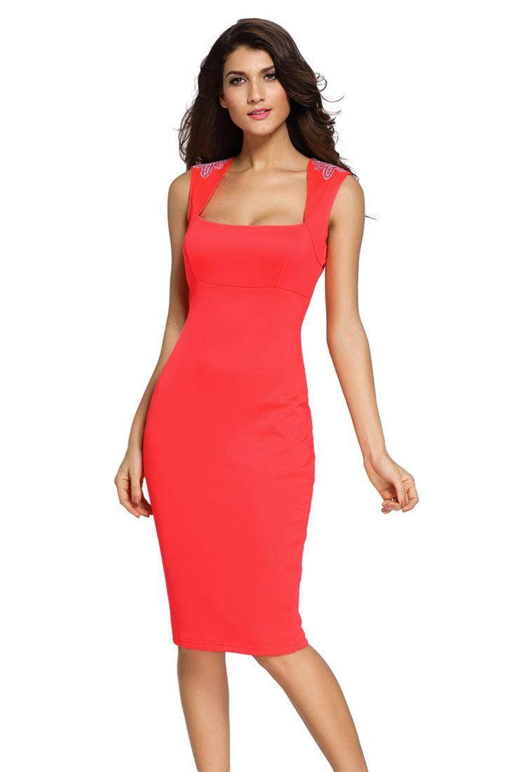 Sukienka pomarańczowa midi elegancka