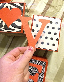 Six Sisters' Stuff: Easy Valentines Love Blocks Tutorial