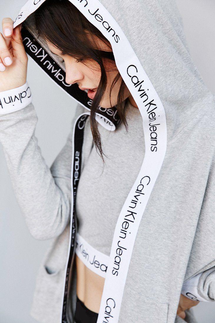 Calvin Klein For UO Flyaway Hoodie Sweatshirt