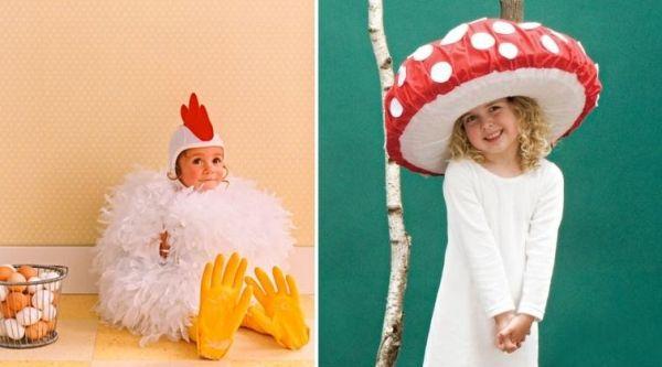 Lustige Kinderkostüme Pilz-Hut Kücken Accessoires Fasching