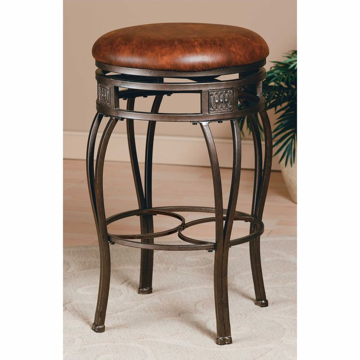 Hilale Montello 26 In Backless Swivel Counter Stool Old