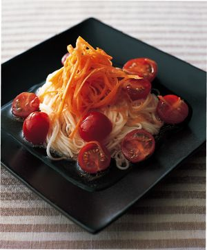 マリネ野菜のそうめんサラダ   金子健一(つむぎや)さんのレシピ ...